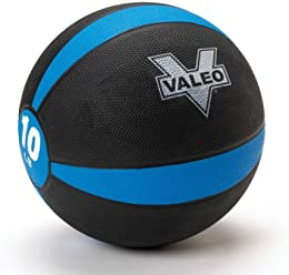 Valeo -Pound Medicine Ball with Sturdy Rubber Construction and Textured Finish, Weight Ball Includes