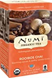Numi Organic Tea Rooibos Chai, 18 Bags, Caffeine Free Herbal Teasan, Organic Rooibos Tea Blended with Chai Spices (Packaging May Vary), Premium Organic Non-Caffeinated Rooibos Chai Tisane, Red Tea
