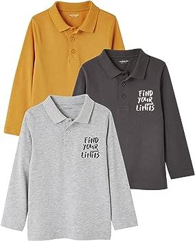 VERTBAUDET Lote de 3 Polos niño Naranja Medio Bicolor/Multicol 18M ...