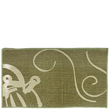 Laroom 12804 U2013 Teppich Küche Kaffeemaschine, Beige Und Grün