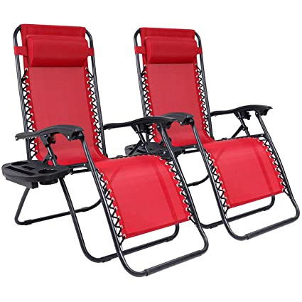 Excellent Homall Zero Gravity Chair Adjustable Folding Lawn Lounge Chair Padded Outdoor Lounge Gravity Chair Camp Lounge Chair With Pillow And Cup Holder Tray Pabps2019 Chair Design Images Pabps2019Com