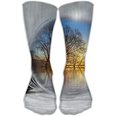 Kjaoi Crew Socks Ducks Bulb Lake Sock Protect The Wrist For Cycling Moisture Control Elastic Socks 11.8inch