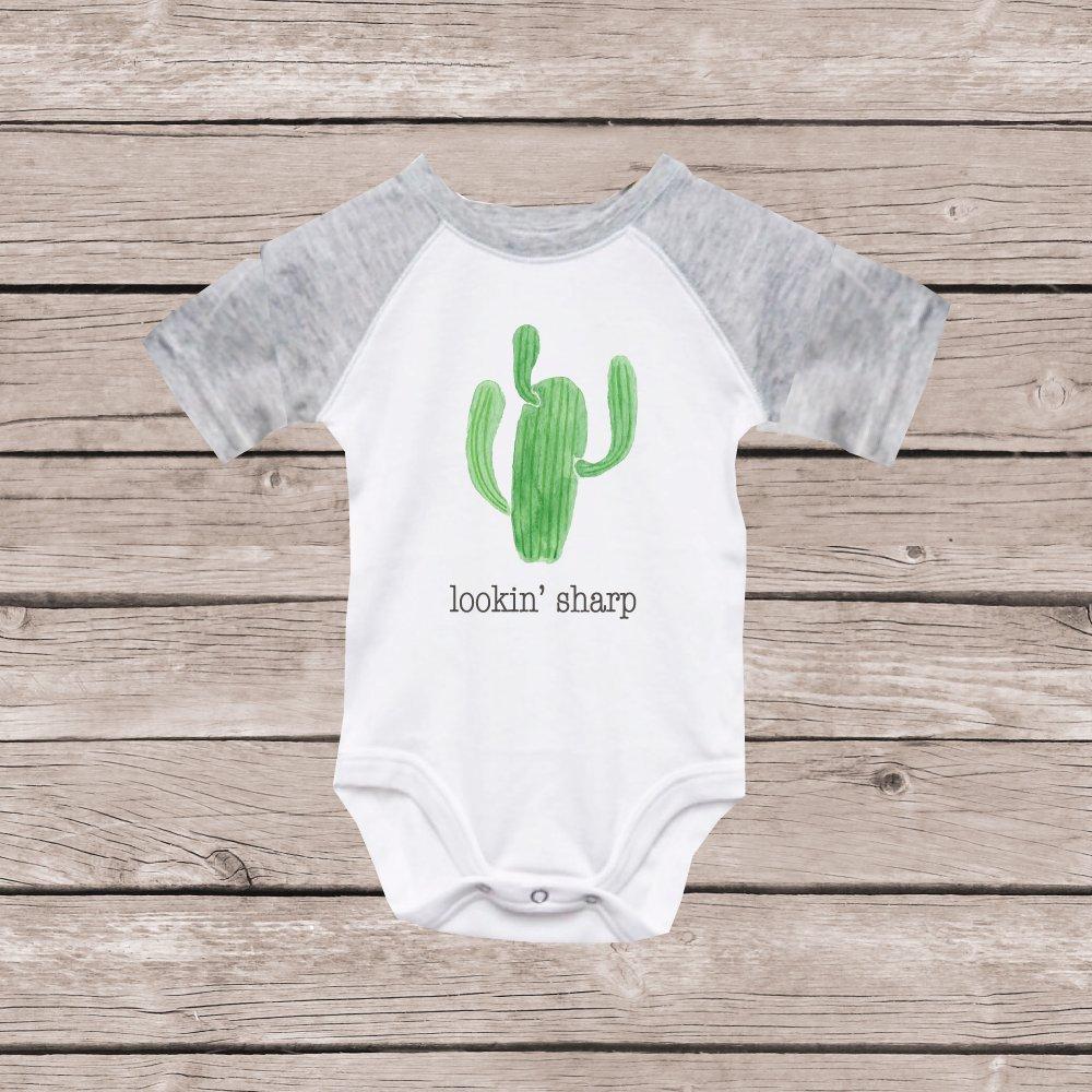 Baby Onesie Cactus Succulents Lookin' Sharp