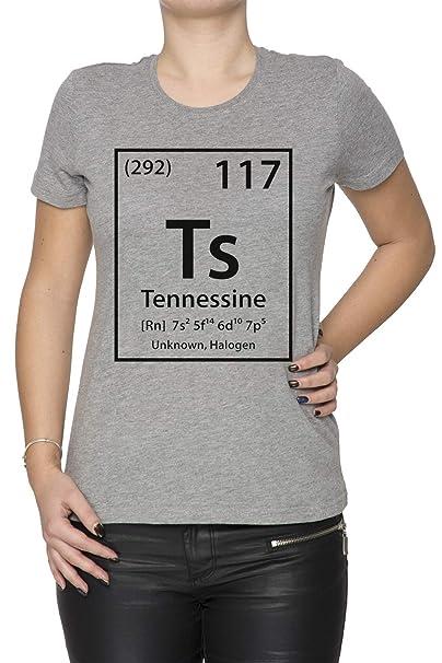Tennessine Element - Tennessee Mujer Camiseta Cuello Redondo Gris Manga Corta Todos Los Tamaños Womens Grey: Amazon.es: Ropa y accesorios