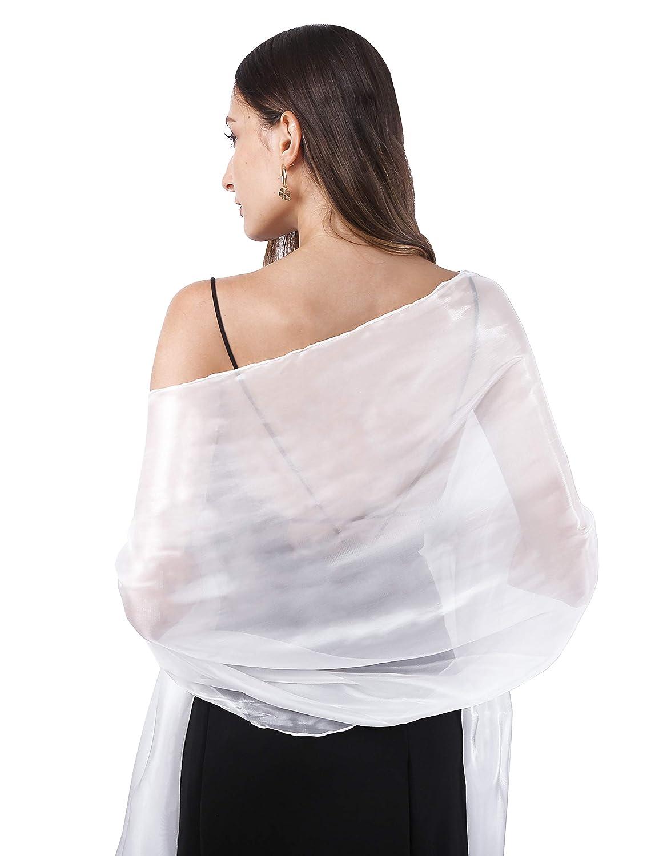 Sciarpa da donna con effetto seta misura grande per vestiti da sera DiaryLook tinta unita per damigella donore