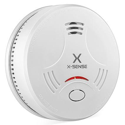 X-Sense SD11 Detector de Humos con Sensor Fotoeléctrico Alarma de Incendios con Batería EN14604 para 10 Años de Vida