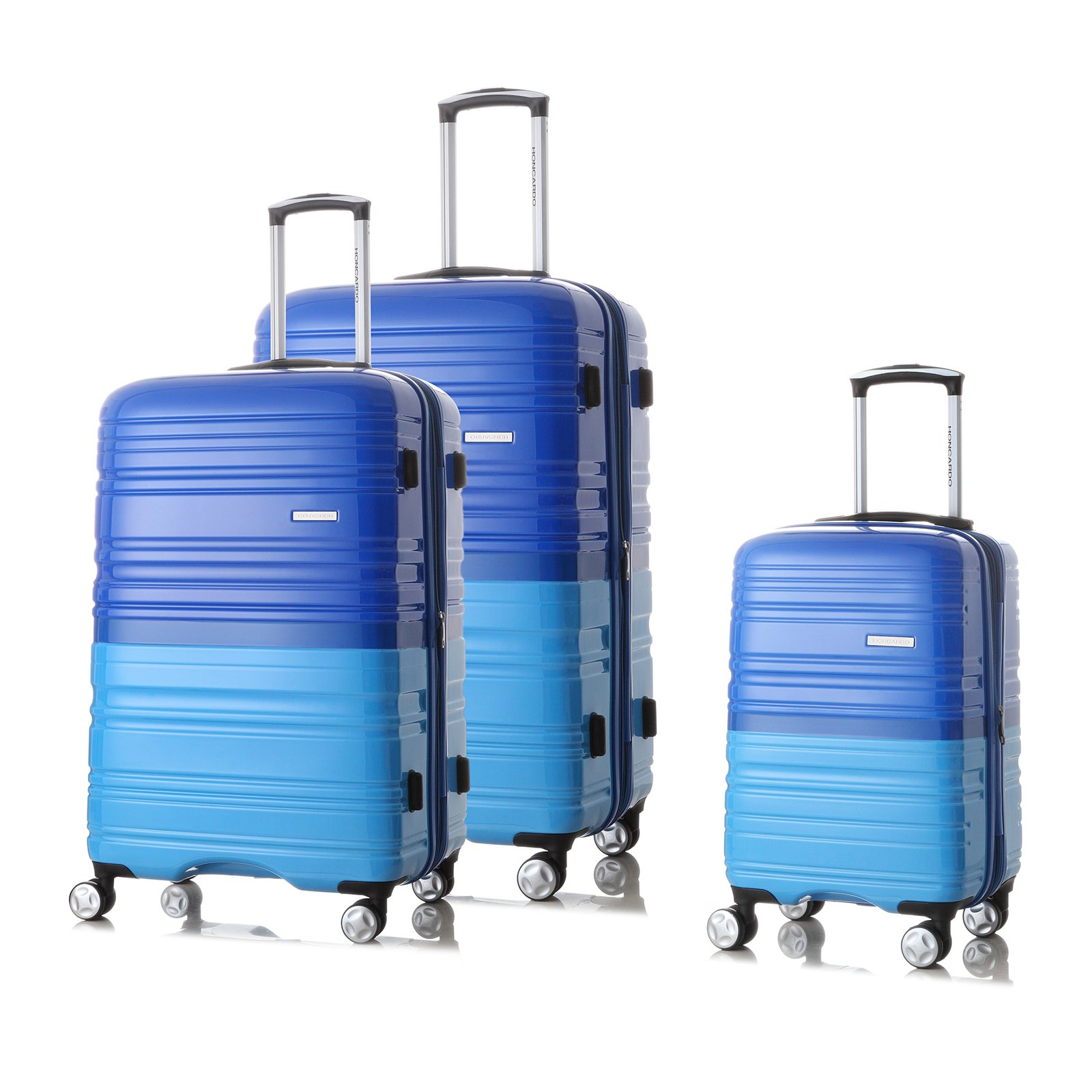 HONCARDO Luggage Sets Bi-color Hardshell Lightweight Spinner Suitcase (20'', 24''& 28'') with TSA, Navy&Blue by HONCARDO