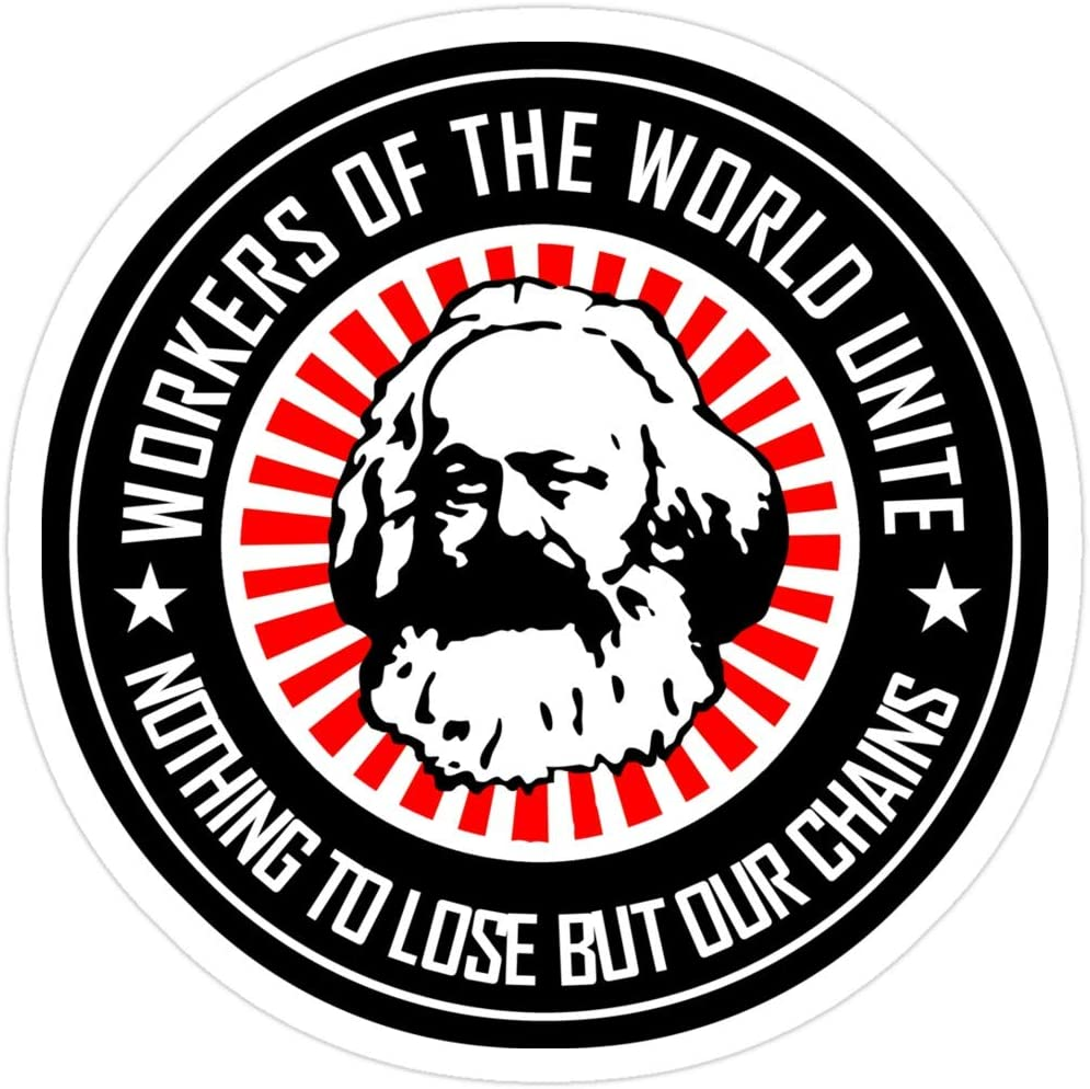 Jess-Sha Store 3 PCs Stickers Karl Marx - Workers Unite, Marx Sticker for Laptop, Phone, Cars, Vinyl Funny Stickers Decal for Laptops, Guitar, Fridge
