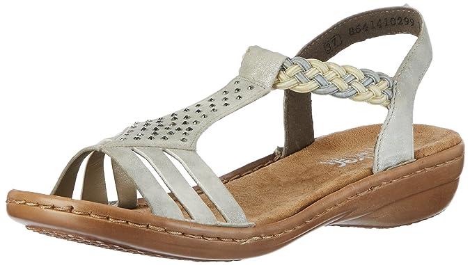 Womens 608y5 Wedge Heels Sandals Rieker 5vgaqp045e