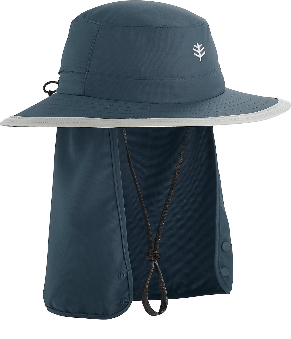 Coolibar UPF 50+ Kids' Convertible Boating Hat - Sun Protective (Large/X-Large- Midnight)