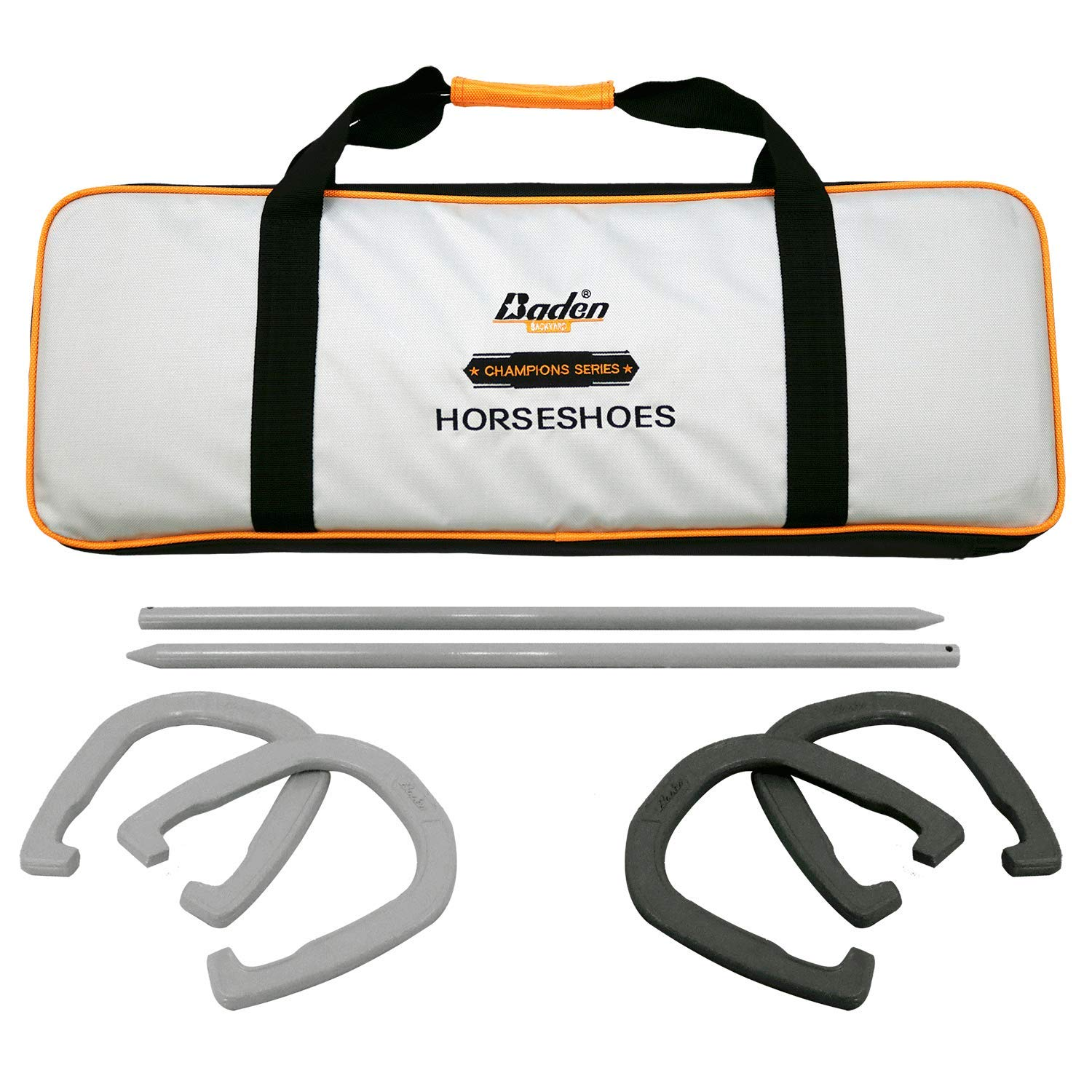 Baden Champions Horseshoe Set- Tournament Quality Forged Steel Construction