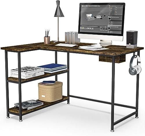 HABILY L Shape Computer Desk