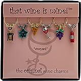 Wine Things WT-1425P Vineyard Wine Charms, Painted