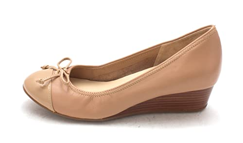 Cole Haan Womens Elinoresam Closed Toe Wedge Pumps Tan Size 6.0