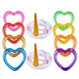 YOUTH UNION Inflatable Unicorn Ring Toss Game -Pool Tools Toys Favors Supplies Party Decorations