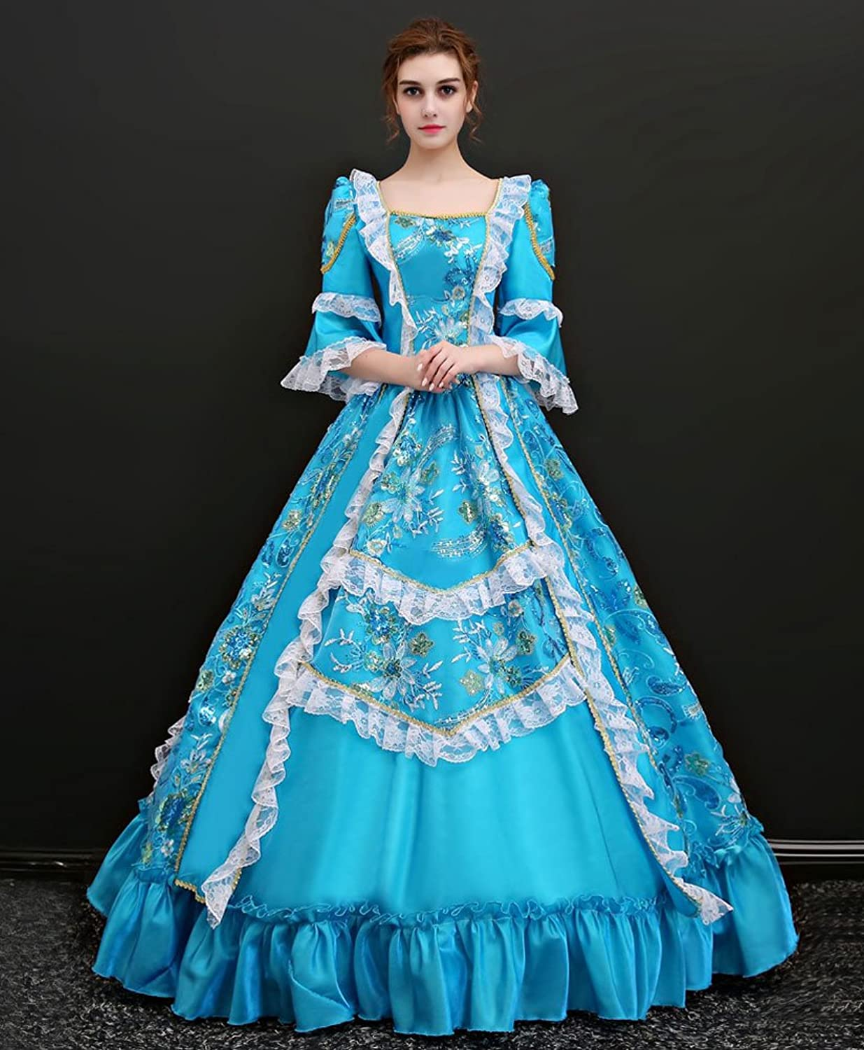 Amazon.com: Zukzi Women\'s Floor Length Victorian Dress Costume ...