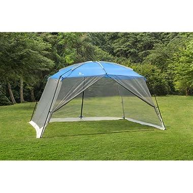 ALPHA CAMP Screen House Tent Easy Setup Canopy - 13'X9', Blue