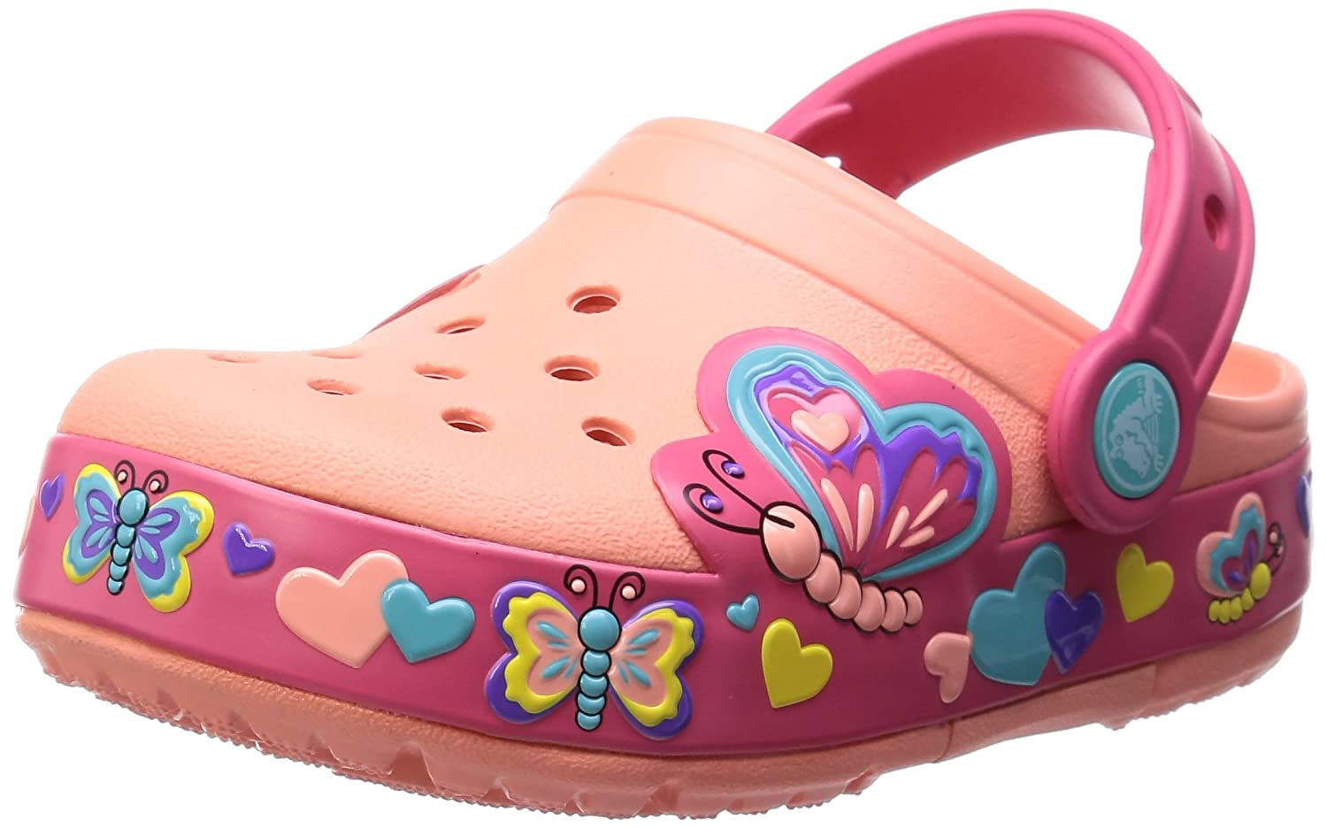 7f16bb3fe9e9 Crocs Girl s CC Dora Butterfly Melon Sunshine Clogs - 12  Buy Online at Low  Prices in India - Amazon.in