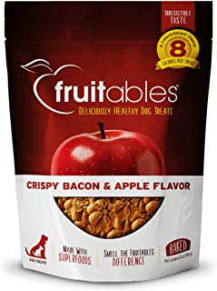 product image for Fruitables Crunchy Baked Low Calorie Training Treats for Dogs | Crispy Bacon Apple Flavor