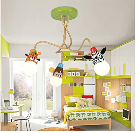 Lilamins Led Eye Energy Kids Rooms Ceiling Light Creative Boys And Girls To  Pass Remote Three