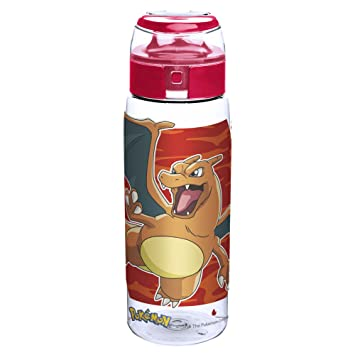 Designs Pokemon Charizard, Charmander & Charmeleon - Botella de plástico