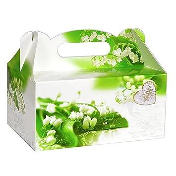 10/20/30 caja para tartas Caja Caja para pastel tarta Pasteles Caja de cartón para pastas Caja de con asa boda Bautismo Comunión Party: Amazon.es: Hogar