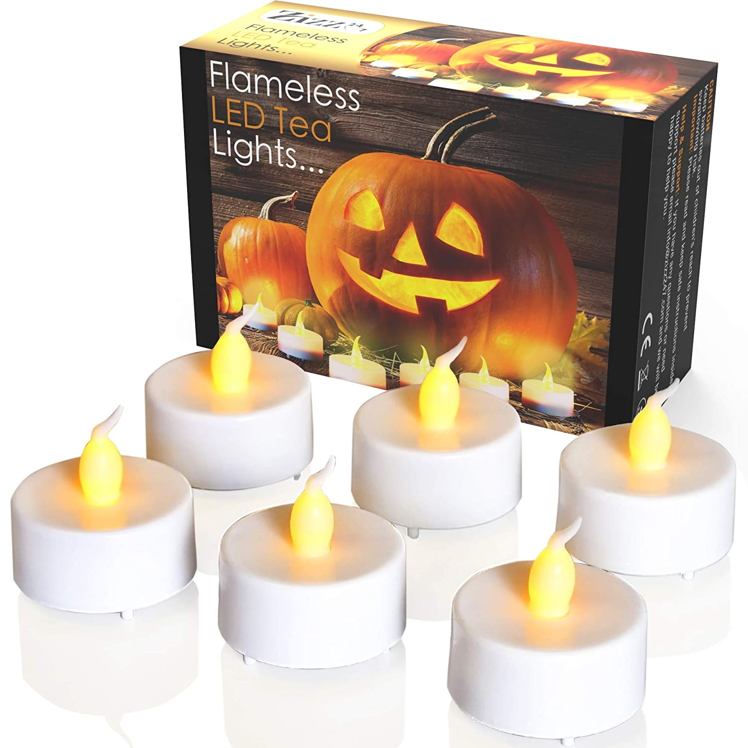 Halloween Decoration Led Tea Lights For Pumpkin Candle Decor, Easy