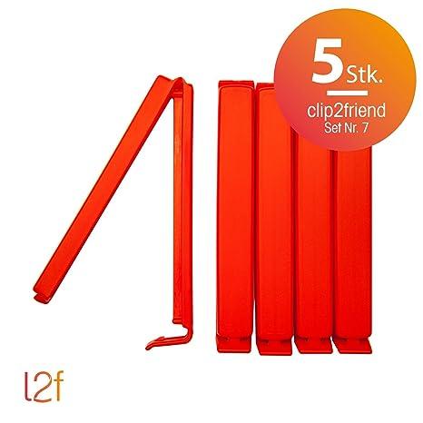 clip2friend Juego Nº 7 (5 piezas), 5 bolsas de clips/bolsa ...