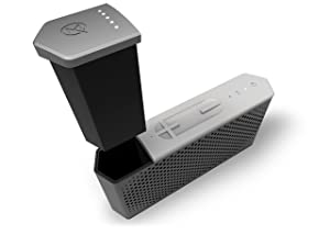 MAQE SOUNDJUMP Aluminum Wireless Bluetooth Speaker with removable magnetic 6000mAh powerbank - Grey Outdoor Speakers at amazon