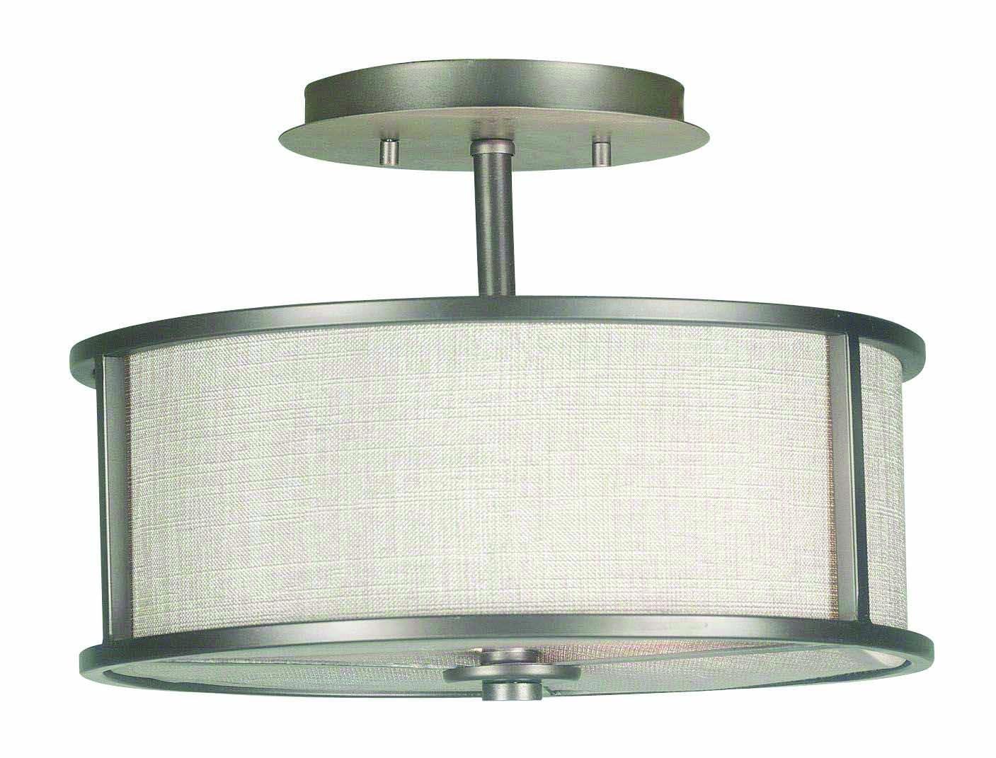 Kenroy Home 91582BZG Whistler 2 Light Semi-Flush, Bronze Gilt Finish