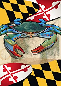 Citizen Pride Maryland Blue Crab Garden Flag by Joe Barsin, 12x18