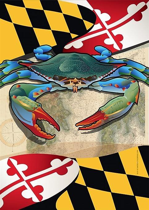 Top Amazon.com: Maryland Blue Crab Garden Flag by Joe Barsin, 12x18  JJ58
