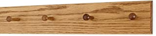 product image for Solid Oak Xtra-Wide Shaker Peg Rack -Made in The USA - Golden Oak Stain 23 x 4.5 Inches with 4 Pegs