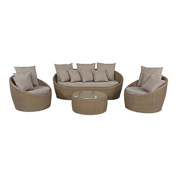 Lesli Living Salon de Jardin Ensemble mobilier de Salon Aruba ...