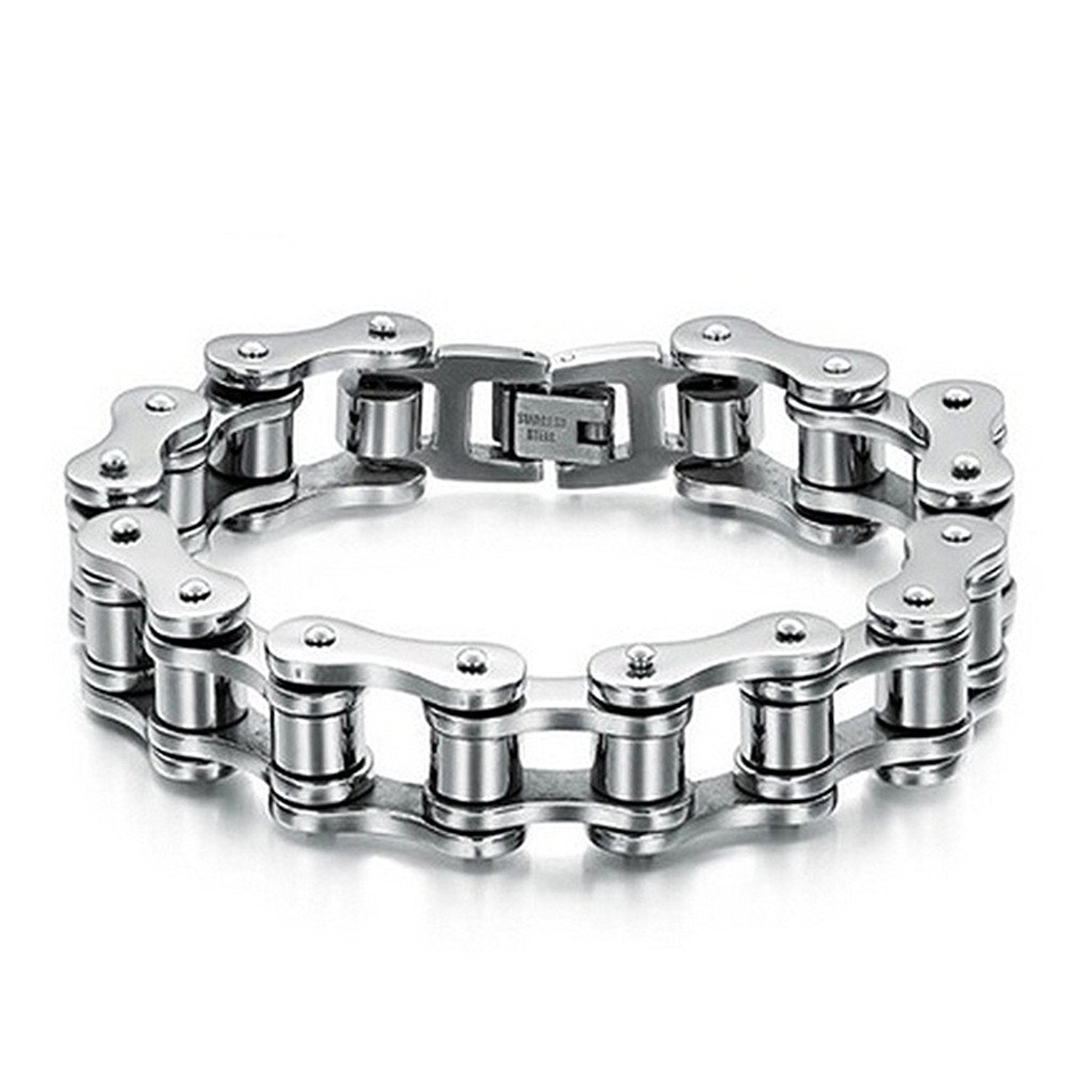 Bodhi2000 Mens Bike Bracelet Stainless Steel Chain Bracelet Bangle Link Chain Jewelry X431K70817BIY3OEBH29