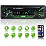 Aigoss Car Stereo with Bluetooth, Single Din Radio FM Media Player USB/TF/SD/AUX Audio Receiver, Hands Free Calling with Wire