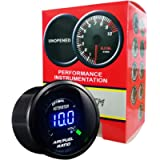 HOTSYSTEM Universal Electronic Air/Fuel Ratio Monitor Meter Gauge Blue Digital LED 2inches 52mm for Car Vehicle…