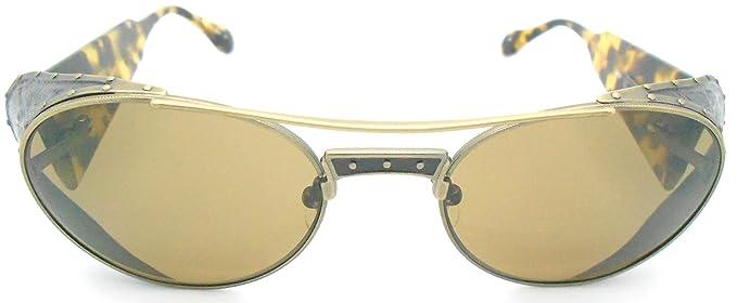 Amazon.com: Matsuda M3032 Dorado antiguo Ronda anteojos de ...