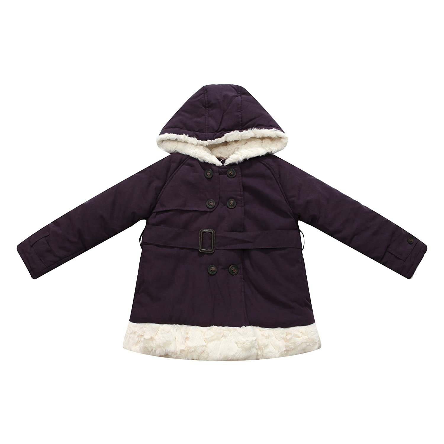Richie House Girls' Warm Coat with Faux Fur Trim RH0880