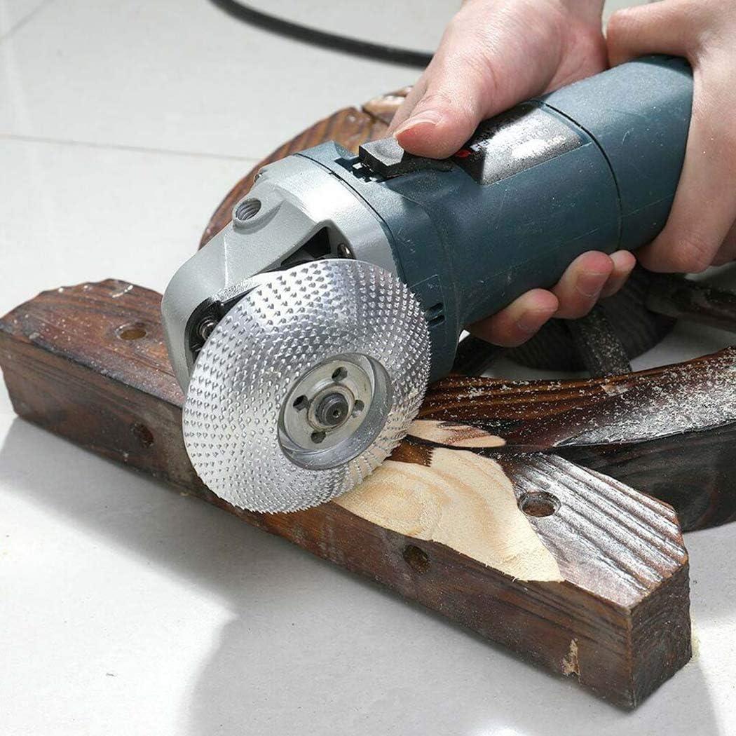 JUSTDOLIFE Winkelschleifer Radscheibe Mehrzweck Holz Schnitzscheibe Schnitzen Holzbearbeitungswerkzeug