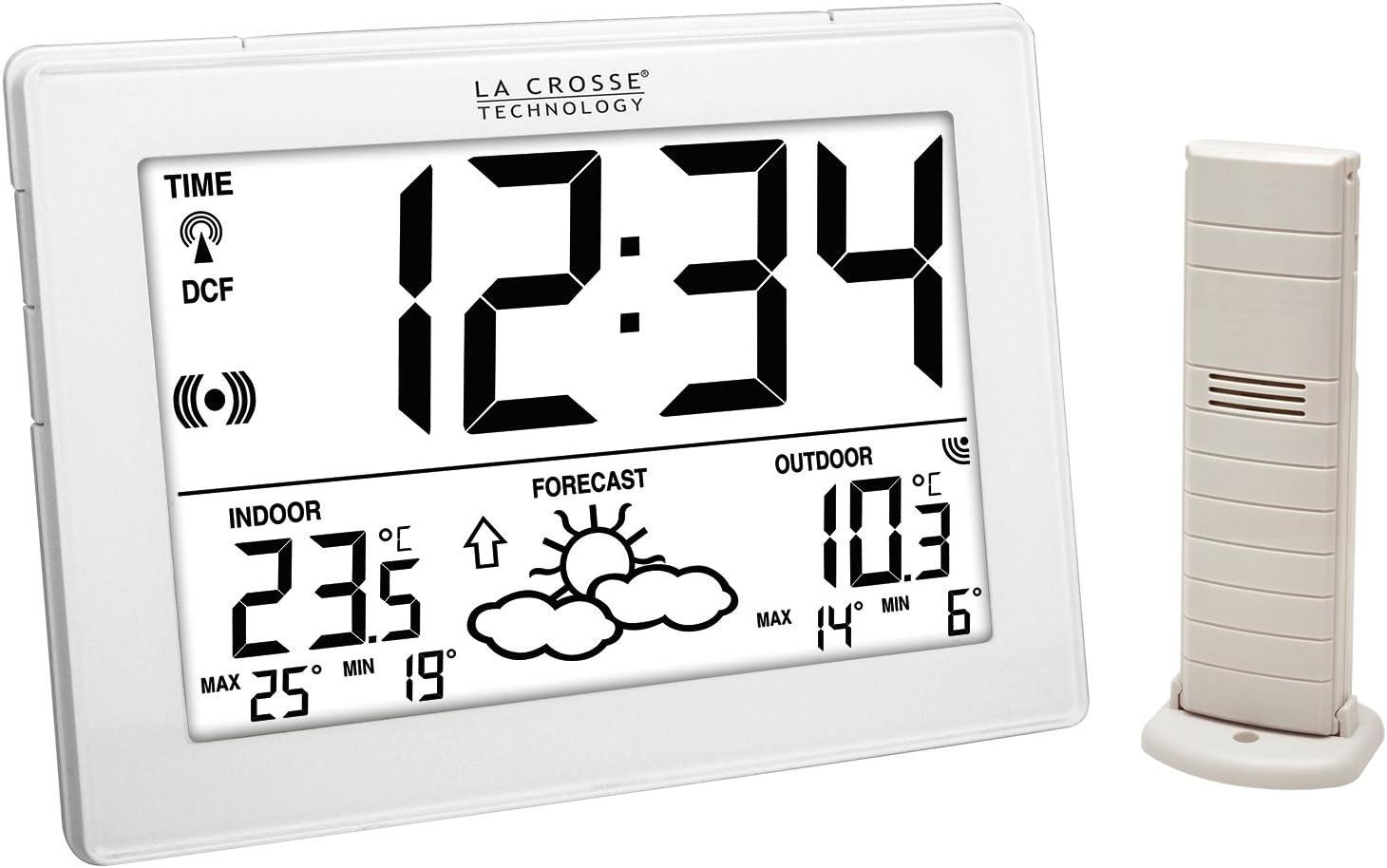 weather station temperatures interior//exterior La Crosse Technology WS9180 white
