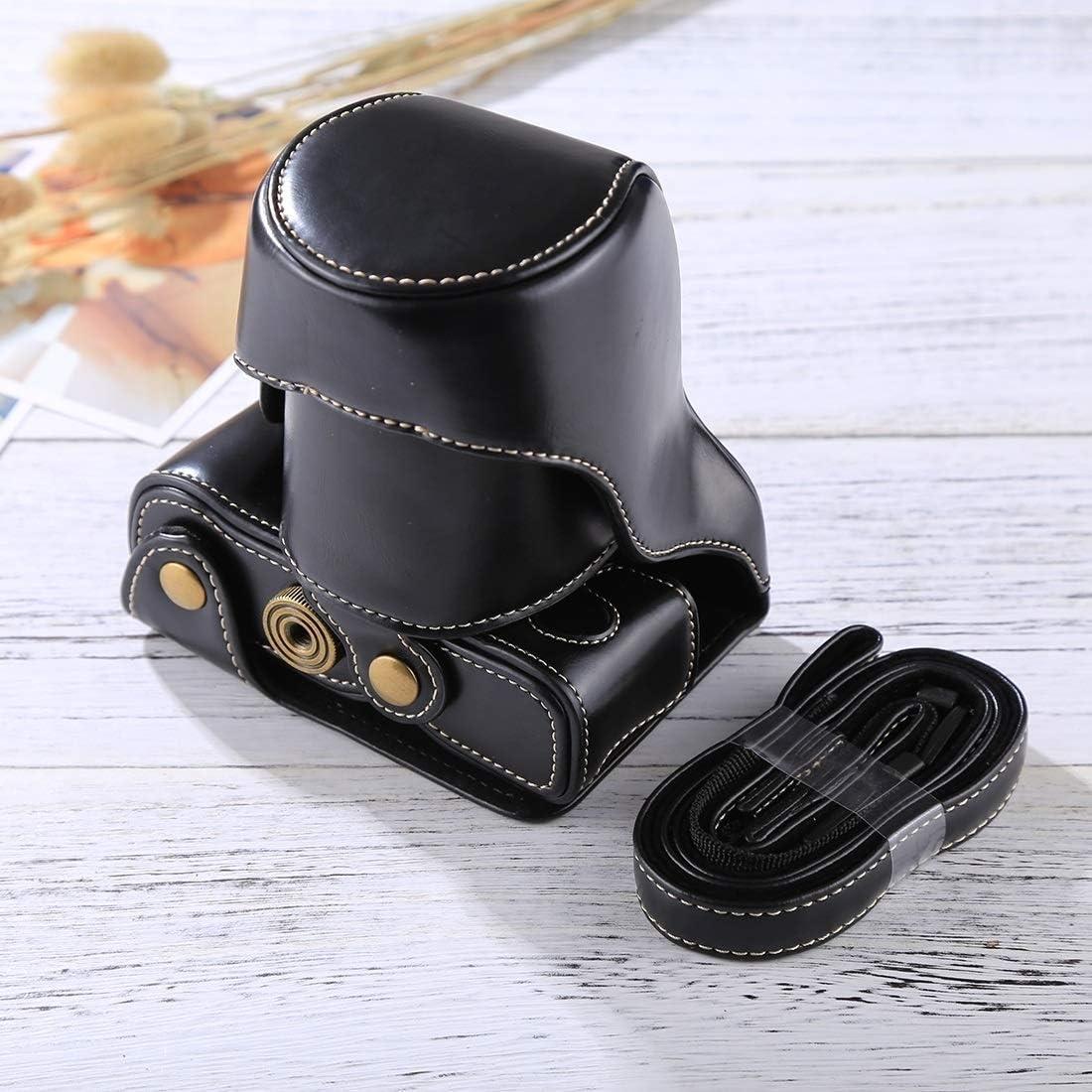Ychaoya Camera Bag Wuzpx Wide Body Camera PU Leather Case Bag with Strap for FUJIFILM X-A3 // X-A2// X-M1 // X-A10 16-50mm // 18-55mm // XF 35mm Lens Black Color : Black