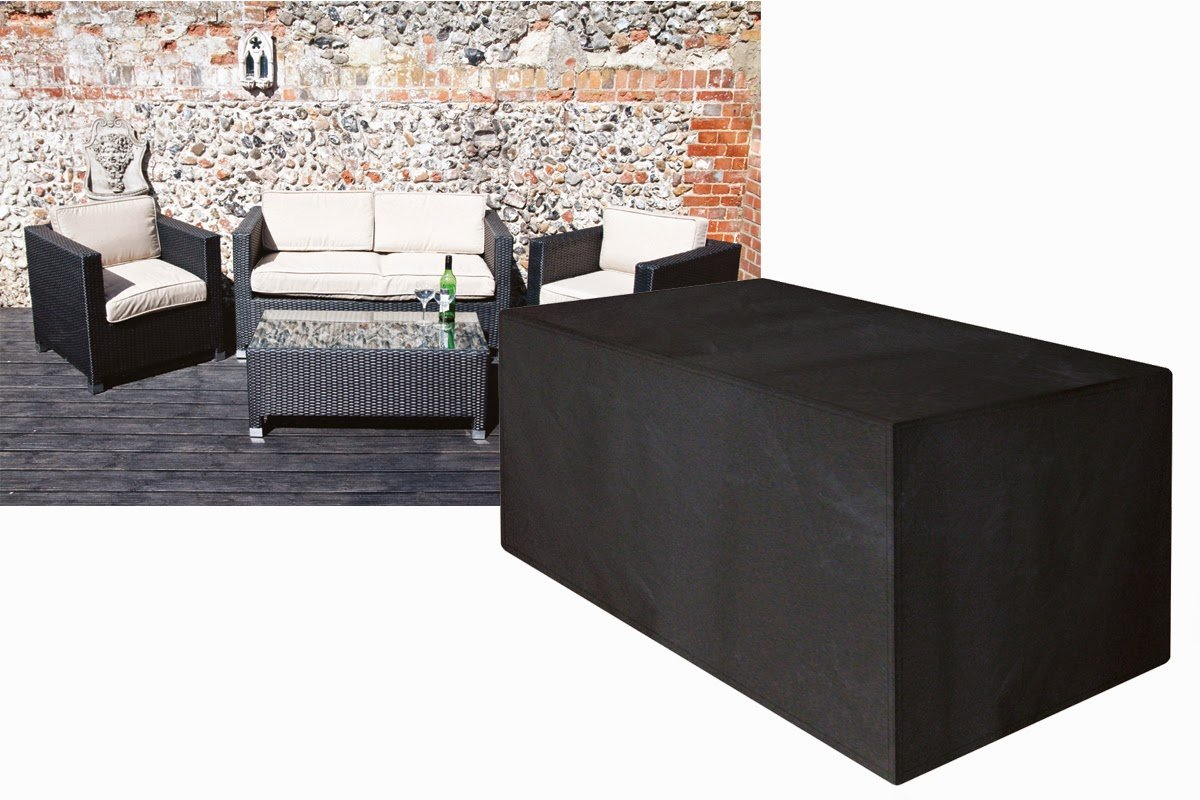 Stupendous Ascot Covers Black Polyester Cover For 2 Seater Large Rattan Sofa Small Dailytribune Chair Design For Home Dailytribuneorg
