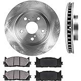 CRK13595 FRONT 296mm Premium OE 5 Lug [2] Brake Rotors + [4] Ceramic Pads [fit Lexus ES300h ES350 Toyota Avalon Camry]