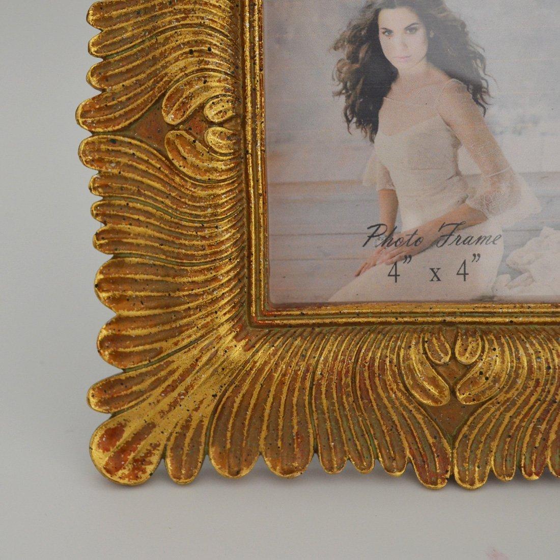 Geschenk Garten 4 x 4 Gold Bilderrahmen Vintage Rahmen 4 von 10,2 cm ...
