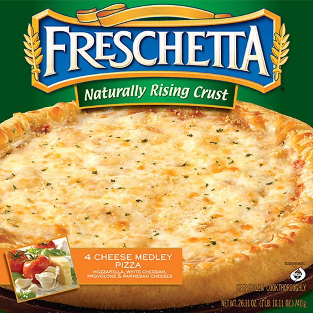 Freschetta Naturally Rising Crust Four Cheese Pizza, 26.11 Ounce -- 14 per case.