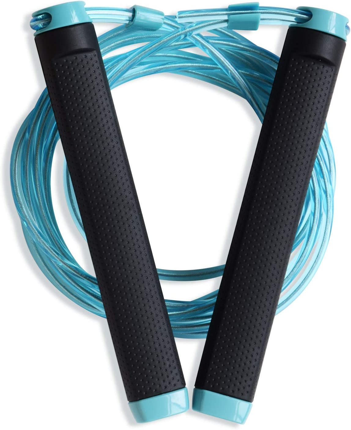 CHICHEN Jump Rope 10FT Length Adjustable to All Heights with Air Vent on The Gri