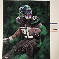 $99 » Autographed/Signed Le'Veon LeVeon Bell New York Jets 16x20 Football Photo PSA/DNA COA #2
