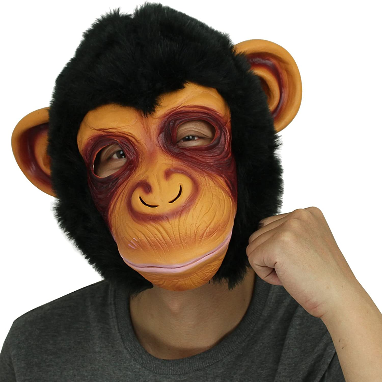 Amazon.com: Novelty Latex Rubber Creepy Chimp Monkey Gorilla Head ...