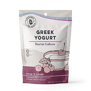 Greek Yogurt Starter Culture   Cultures for Health   Non GMO, Gluten Free   Makes Tart, Creamy Greek Yogurt